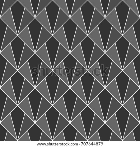 Interlocking Polygons Tessellation Background. Image With Repeated  Triangles, Quadrangles, Rhombuses, Kites.