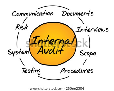 Internal Audit process circle, business concept - stock vector