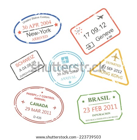 French Passport Stamp Stock Images Royalty Free Images