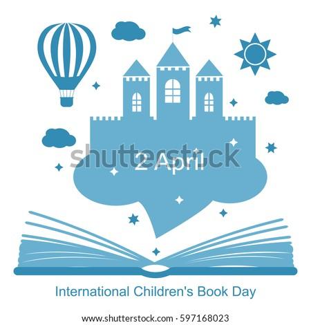International Childrens Book Day, April 2. Vector illustration