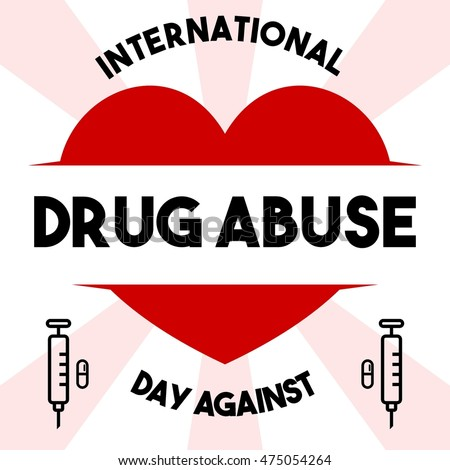 International Day against Drug Abuse poster design template