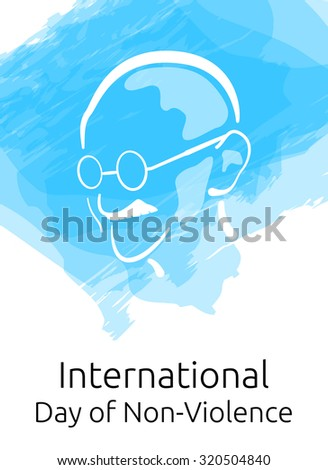 International Day of Non-Violence or Gandhi Jayanti and the birthday of Mahatma Gandhi Vector Illustration - stock vector