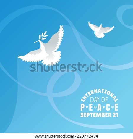International Day of Peace background vector illustration - stock vector
