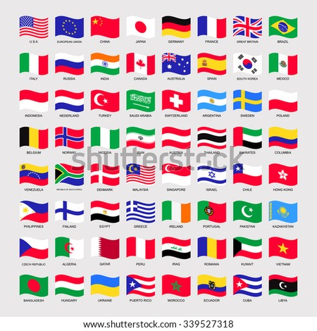 international flags set