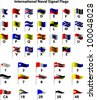 International Naval Signal Flags - stock vector