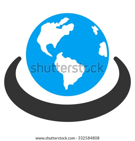 International Network vector icon. Style is flat symbol, rounded angles, white background. - stock vector