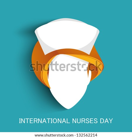 International nurse day concept with illustration of a nurse - stock vector