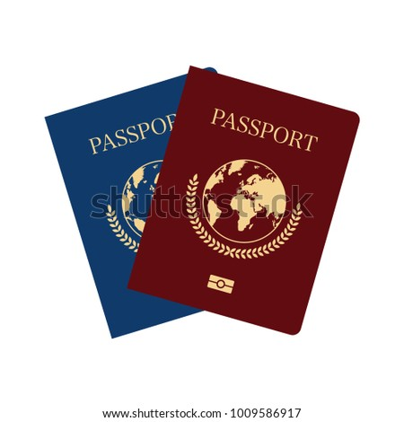 International passports cover template. Vector illustration.