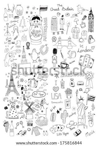 International symbols - stock vector