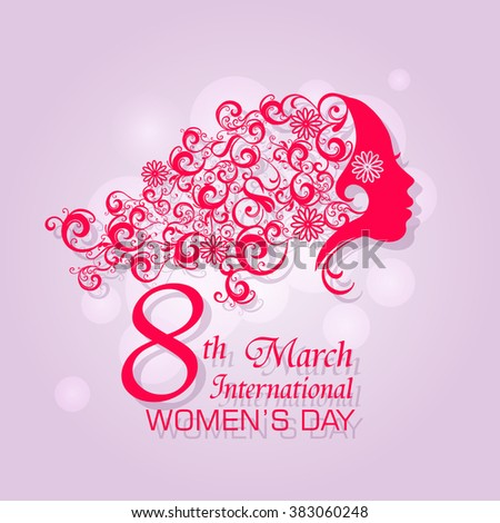 International Woman's Day Design / Happy Women's Day celebrations concept / Happy Women's Day greeting card, gift card  - stock vector