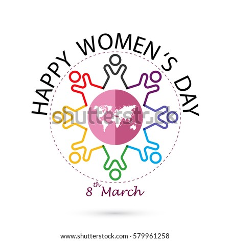 International women's day icon.Women's day symbol.Vector illustration