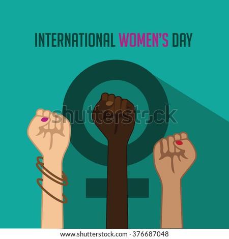 International Women's Day poster icon. EPS 10 vector. - stock vector