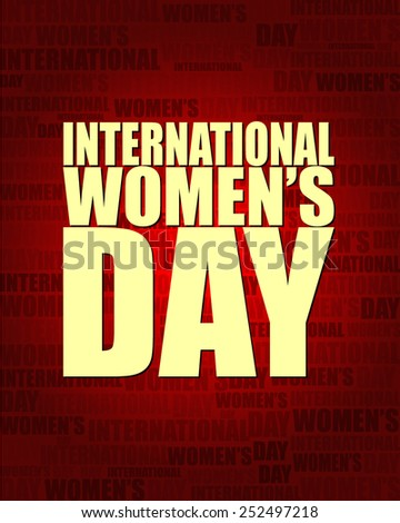 International Women's Day with same text on red gradient background.
