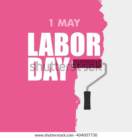 International Worker and Labor May Day. Design Template Vector Illustration - stock vector