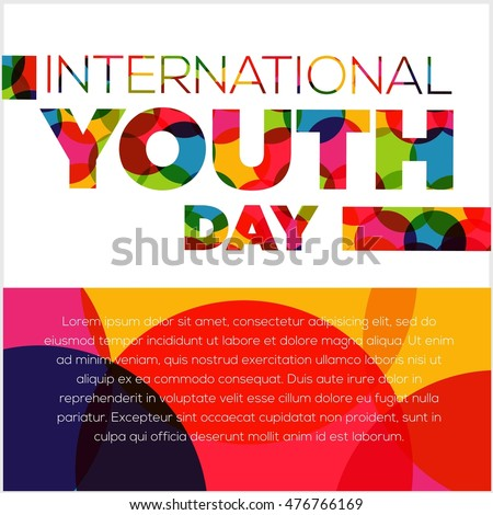 International Youth Day Poster Campaign Stock Vector ...