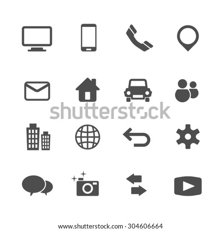 Internet and Communication icons set,Vector - stock vector