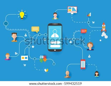 Internet Networks Design Concept Icons Vector Stock Vector 599432519 - Shutterstock