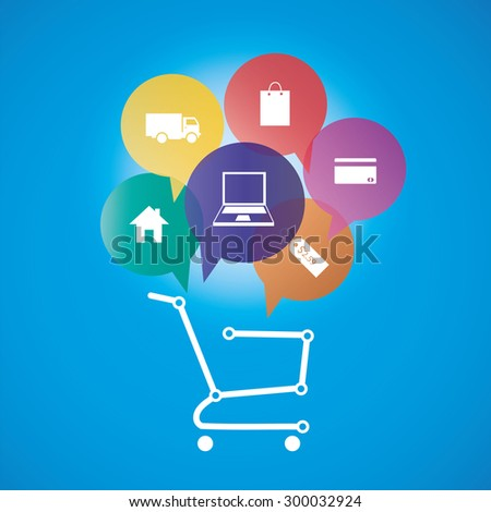 Internet and Online Shopping Concept  - stock vector