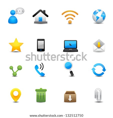 internet and web icons set
