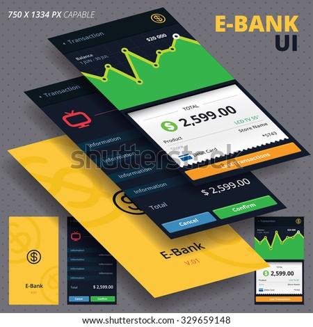 Internet Bank  - stock vector