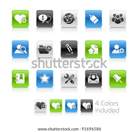 Internet & Blog Buttons  / The file Includes 4 color versions in different layers. - stock vector