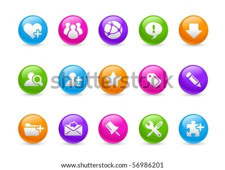 Internet & Blog // Rainbow Series - stock vector