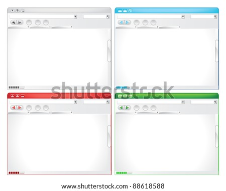 Internet Browser - stock vector