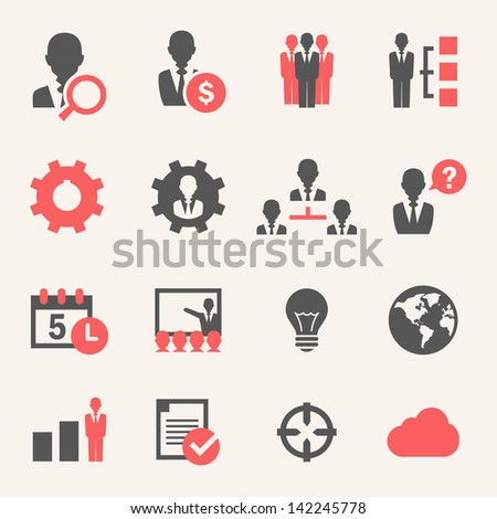 Internet Business. Icon set - stock vector