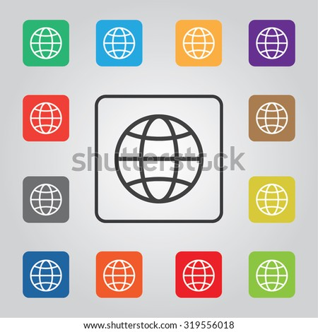 internet colored vector icon for web and mobile - stock vector