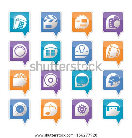Internet, Computer and mobile phone icons - Vector icon set - stock vector