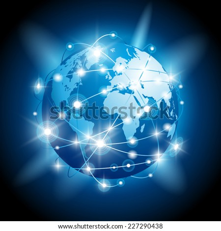 Internet concept of global business. Vector illustration - stock vector