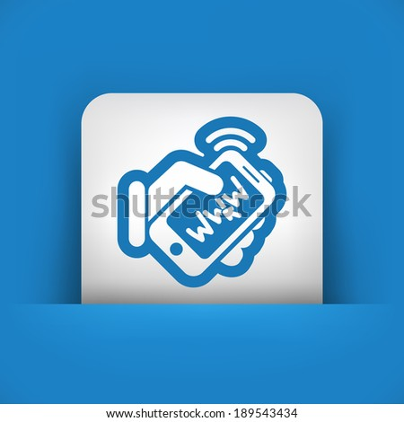 Internet connection smartphone - stock vector