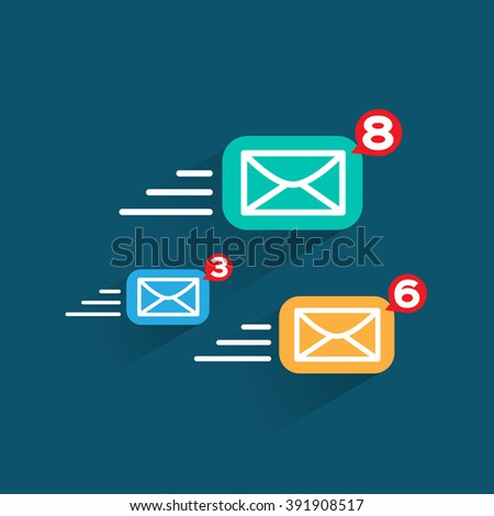 Internet e-mail icon. send Message, vector design