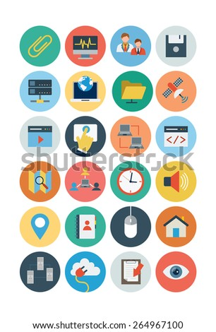 Internet Flat Icons - Vol 2 - stock vector