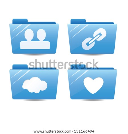 Internet folder icons - stock vector