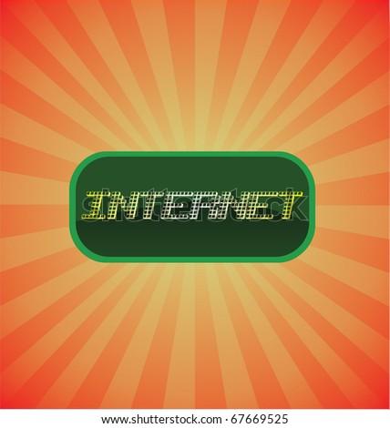 Internet glossy vector icon - stock vector
