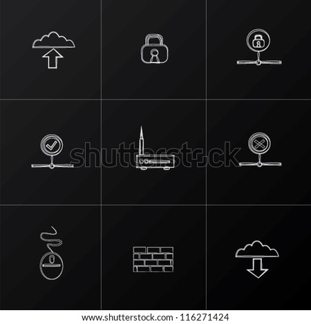 Internet icon set,Vector - stock vector