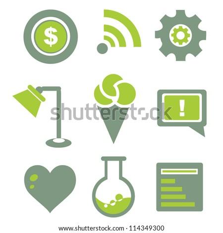 internet icon, web icon set - stock vector