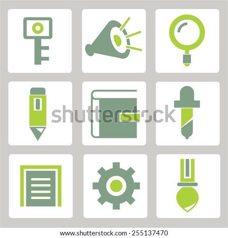 internet icons - stock vector