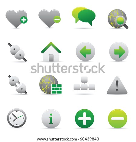 Internet Icons | Green05  Professional icons for your website, application, or presentation - stock vector