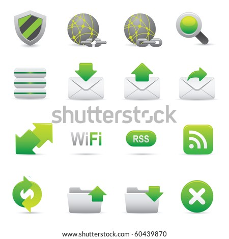 Internet Icons | Green07  Professional icons for your website, application, or presentation - stock vector