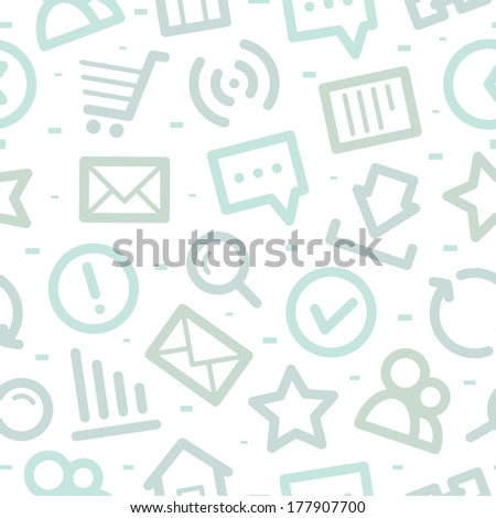Internet icons pattern - stock vector