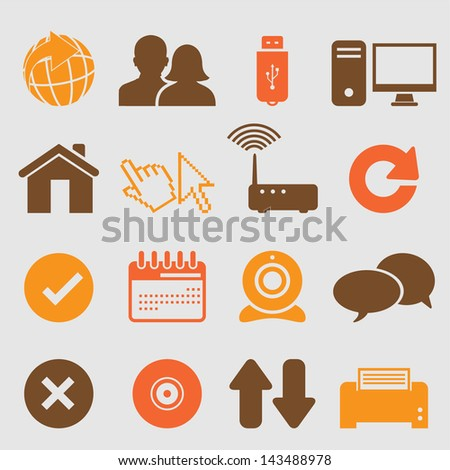Internet icons set.Vector - stock vector