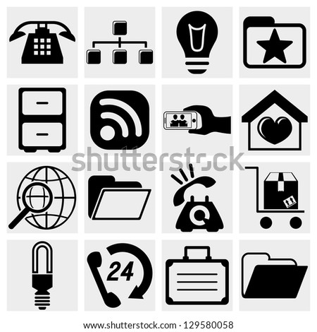 Internet icons set. Web, communication icons vector set. - stock vector
