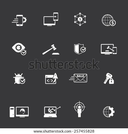 Internet marketing icons - stock vector