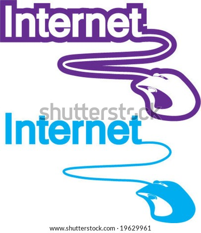 Internet mouse click PC - stock vector