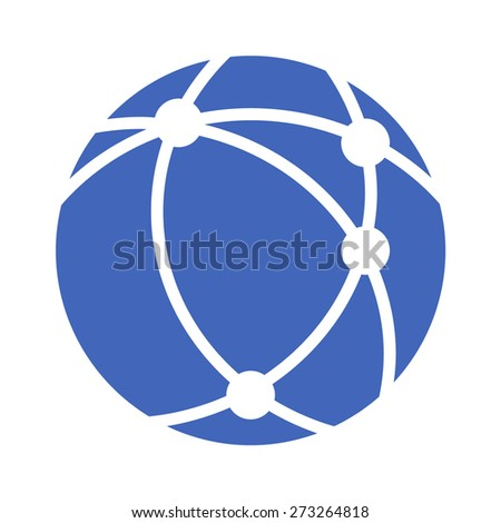 Internet network flat icon for apps and websites - stock vector