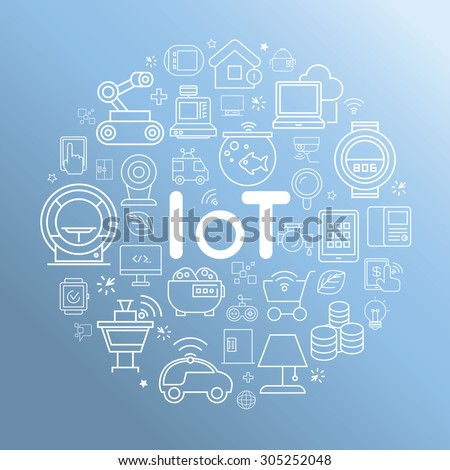 internet of things - stock vector