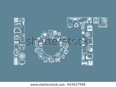 Internet of Things concept. Vector illustration. - stock vector