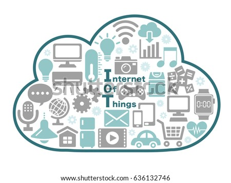 Internet Of Things Icon Cloud Computing Design Concept